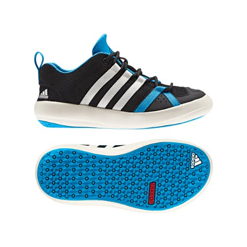 Adidas Outdoor Boat Lace Water Shoe - Kid'S Black/Chalk/Solar Blue 6 back-1061008