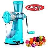 Slings Smart High Quality Fruit & Vegetable Juicer With Steel Handle Blue