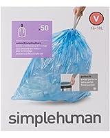 Simplehuman CW0240 Sac Poubelle Plastique Blanc