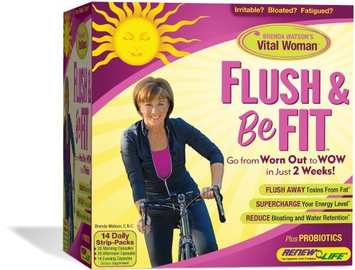 Renew Life Flush and Be Fit, Cleanse & Energize Program for Women, 28 Count (2 Kits) Fat Flush Kit