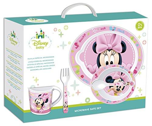 Set di stoviglie per microonde, per bambini, motivo Minnie Mouse, 5 pezzi