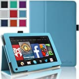 Kindle Fire 1st & 2nd Generation Cover Case - HOTCOOL Slim New PU Leather Case For Amazon Original Kindle Fire 2011 (Previous Generation - 1st) And Kindle Fire 2012 (Previous Generation - 2nd) Tablet(Will not fit HD or HDX models), Blue