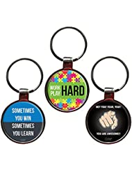 Combo For Achievers Set Of 3 Quote Metal Key Chains By QuoteSutra