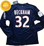 LS David Beckham #32 PSG Paris Saint Germain Home Soccer Jersey Shirt 2012-13 (L)