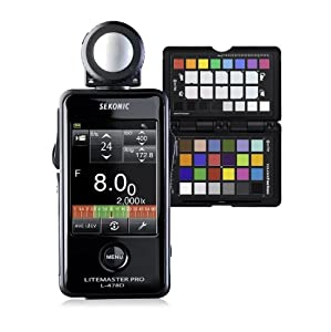 Sekonic Corporation 401-478CCPP LITEMASTER PRO L-478D with X-Rite ColorChecker Passport and Gray Balance Card (Black)