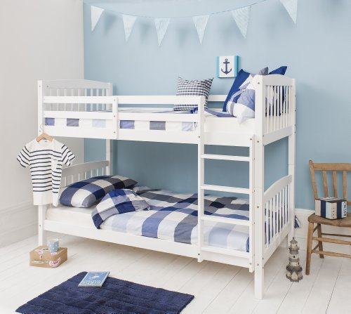 Bunk Bed Wooden Single White Pine Can be split into 2 singles