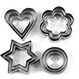 Evana 12 Piece Set Stainless Steel Pastry Cookie Biscuit Cutter Cake Muffin Decor Mold Mould Multifunctional Tool