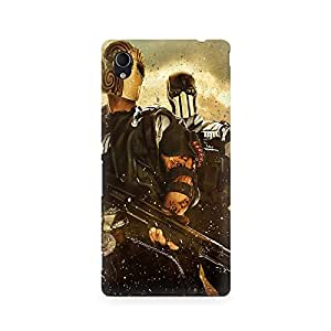 Mobicture Twin Soldiers Premium Printed Case For Sony Xperia M4