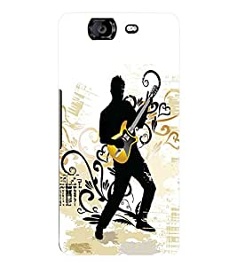Fuson 3D Printed Music Wallpaper Designer Back Case Cover for Micromax Canvas Knight A350 - D799
