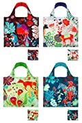 Loqi Forest 4-pack Reusable Shopping Bags