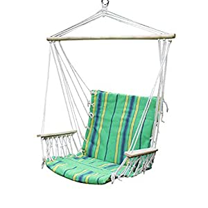Adeco cotton fabric canvas hammock chair for Fabric hammock chair