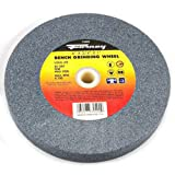 Forney 72402 Bench Grinding Wheel, Vitrified with 1-Inch Arbor, 80-Grit, 6-Inch-by-3/4-Inch