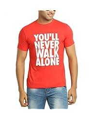 642 Stitches Men's Round Neck Cotton You'll Never Walk Alone T-Shirt