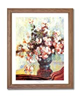 Claude Monet French Flowers Vase Home Decor Wall Picture Oak Framed Art Print