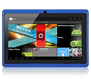 "7"" inch Touch Screen Allwinner A13 1.0GHz CPU  Android 4.0 Tablet PC 4GB HDD 512MB WiFi (Blue) from Leliktec"