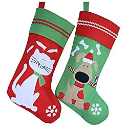 Wewill Lovely Embroidered Pets Pattern Christmas Stockings...