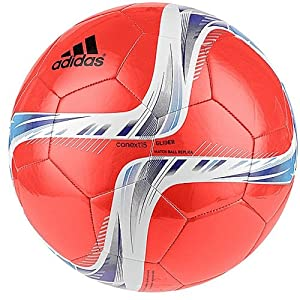 adidas Performance Conext15 Glider Soccer Ball, Solar Red/Night Flash Purple/White, Size 5