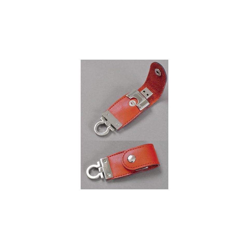 Premium Brown Leather Key FOB USB Flash Memory Drive 16 GB
