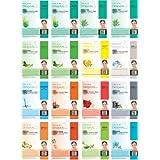 Dermal Korea Collagen Essence Full Face Facial Mask Sheet - Combo Pack (16 Pack)