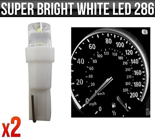 12v-12w-t5-5mm-super-bright-white-led-wedge-car-dashboard-speedo-bulb-286-x-2