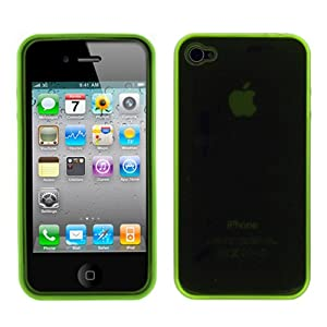GTMax Transparent Green Durable Soft Gel Skin Cover Case for Apple iPhone 4 4G 16GB / 32GB 4th Generation