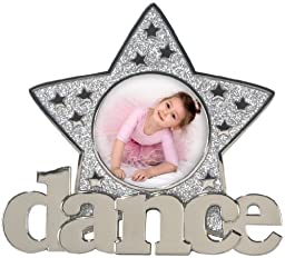 Malden Dance, Dance, Dance Metal Picture Frame, Dance Glitter Star, 3 by 3-Inch by Malden