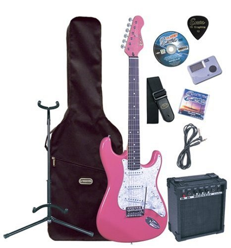 Encore EBP-KC3PK Pink Electric Guitar Outfit