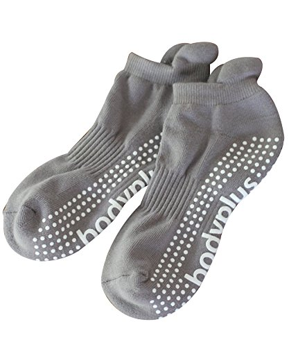 Pilates Yoga Grip Socks for Women - 2 Pairs Non Slip Barre Exercise - (Blue & Grey) (Blue Grey, Women Medium)