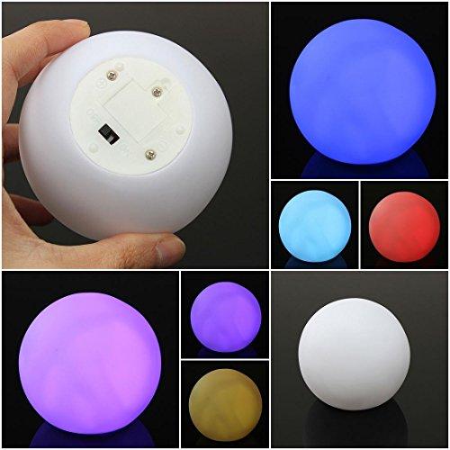 1Pc Heart-stirring Modern LED Color Changing Nightlight Spheriform Indoor Lamp Room Light Multicolor