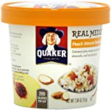 Quaker Real Medleys Peach Almond Oatmeal +,  (Pack of 12)