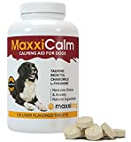 Dog Calming Aids - MaxxiCalm - Separation Anxiety & Stress Relief - BEST Natural Ingredients - FREE Canine Behavior Modification Guide - Relax Tense & Hyper Pets - Relieve Nervous Behavior - Manage Aggression & Calm Down Fear - Comfort Supplement Treatment For Small, Medium & Large Dogs - 120 Liver Flavored Tablets - 100% Money Back Risk Free Guarantee