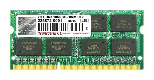 【Amazonの商品情報へ】Transcend JetRam ノートPC用増設メモリ PC3-8500(DDR3-1066) 2GB 永久保証 JM1066KSU-2G