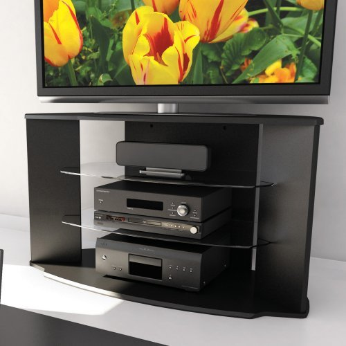 Cheap Sonax Rio Black TV Stand for 37-52 Inch Flat Panel HD TVs (RX-4500)
