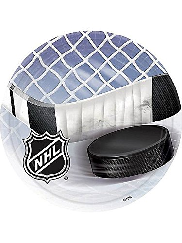 Amscan BB553834 Nhl Hockey Luncheon Plates -8 Pack