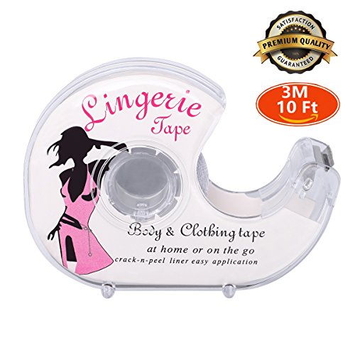 Double Sided Flash Tape Safe For Body Clothing Butt Pads Nipple Cover 10Ft Long (One Sided Thong compare prices)