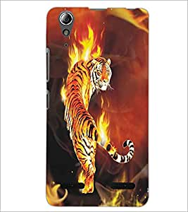LENNOVO A6000 FIRE TIGERS Designer Back Cover Case By PRINTSWAG