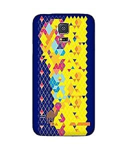 Stripes And Elephant Print-69 Samsung Galaxy S5 Case