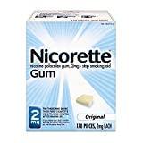 Nicorette Nicotine Gum Original 2 milligram Stop Smoking Aid 170 count