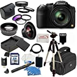 Panasonic Lumix FZ200 Digital Camera w/ Advanced Lens Package, Includes 0.45x Wide Angle Lens, 2x Telephoto Lens, 3 Piece Filter Kit, 4 Piece Macro Kit and much much more...