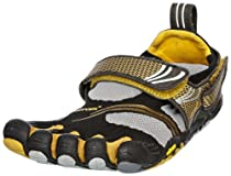 VIBRAM Fivefingers Ladies Komodo Sport Running Shoe, Black/Grey/Gold, US9