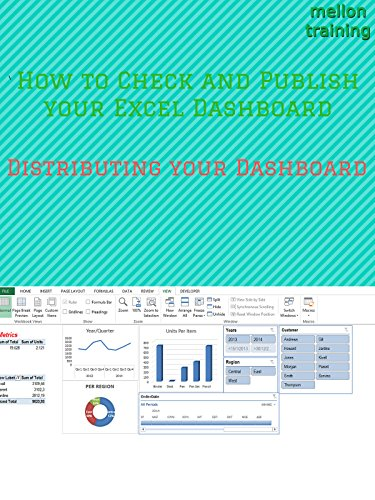 How to Check and Publish your Excel Dashboard: Distributing your Dashboard