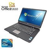 【Microsoft Office 2010搭載】【Win 7搭載】NEC VY22G/X-A/新世代Core i3 2.26GHz/メモリ4GB/HDD160GB/大画面15.6インチ/無線LAN搭載/中古ノートパソコン (Win7+SSD128GB バッテリーあり(充電可能))