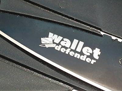 Credit Card Knife Wallet Defender Black Steel Outdoor Survival Emergency Tool by Wallet Defender