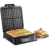 VonShef Quad Waffle Maker, 1200 Watt, Free 2 Year Warranty