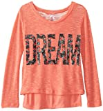 Beautees Big Girls Dream Lightweight Sweater with Tank, Sunset Coral, X-Large