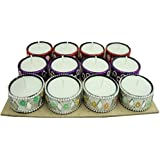 MH Craft Lac Tealight Candle Set ( Multicolor, Pack Of 12)