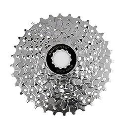 Generic Mountain Bike 9 Speed Freewheel 11-32T Bicycle Gear Chrome Cassette Sprockets