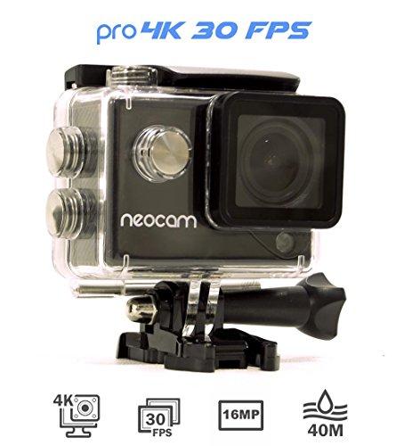 Nouveau-NEOCAM-PRO-Camra-de-sport-4K-30-FPS-Photo-16-MP-Ultra-Haute-dfinition-Marque-Franaise-cran-LCD-2-pouces-Caisson-tanche-12-fixations-offertes