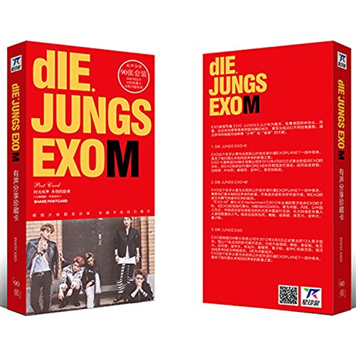 Fanstown EXO german DLE JUNGS postcard photo album EXO-K EXO-M(90pcs) (EXO-M)