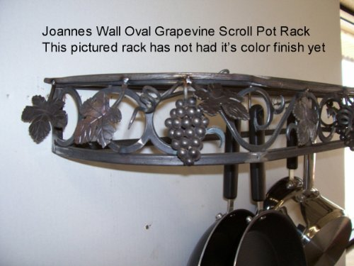 Cheap Grapevine pot rack & Wall Oval Cookware Pot Pan Rack by Joanne (wog)